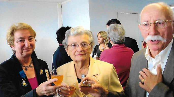 Françoise Jan Ex Présidente de l'Ancrei et M. Alliot Ex Secrétaire Général de l'Adapei 44